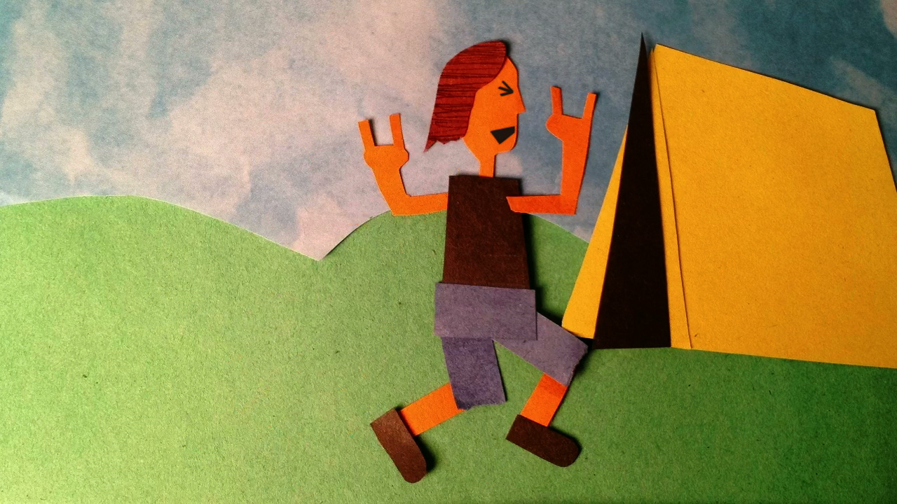 &quot;Extreme Camping&quot; - Stop-motion with Construction Paper