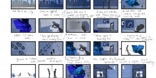 "Storyboard - ""Lightly Stepping"" Animated Music Video for Nate Henry, Page 2"
